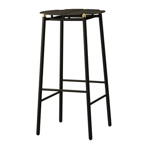 Bar stool Novo, black / brass