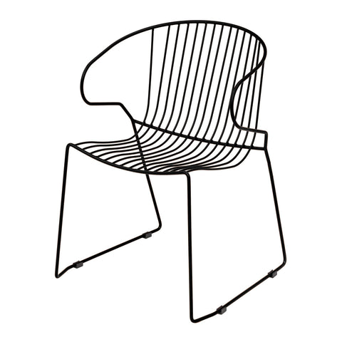 Garden chair Bolonia, with armrests, stackable, different colors, 2pcs - Nordic Design Home