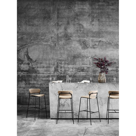 Bar stool Pavilion AV10, seat height 75 cm, different wood finishes and upholstery