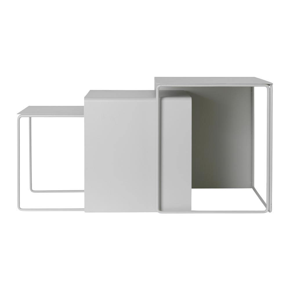 Side table Cluster, set of three, light gray - Nordic Design Home
