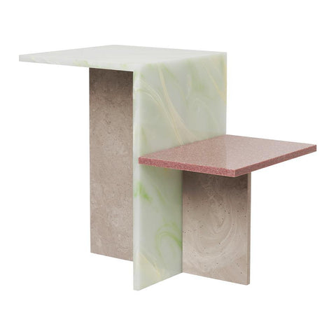 Side table Distinct, acrylic stone