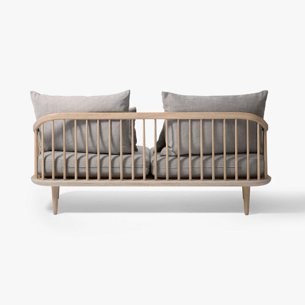 Sofa Fly SC2, double, different fabrics and wood finishes