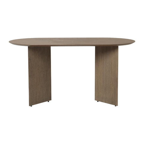 Dining table Mingle with wooden legs, oval 150x75cm, different finishes