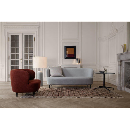 Sofa Stay 220cm, different wood finishes and fabrics - Nordic Design Home