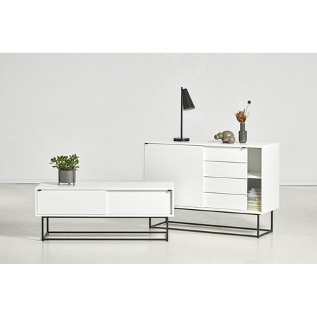 Chest of drawers / TV scale Virka, white - Nordic Design Home