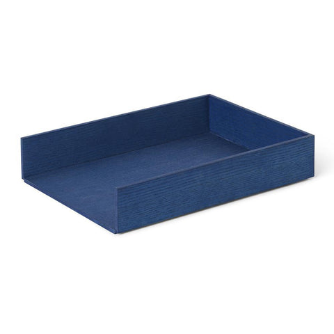 Stackable organizer Letter Tray, blue