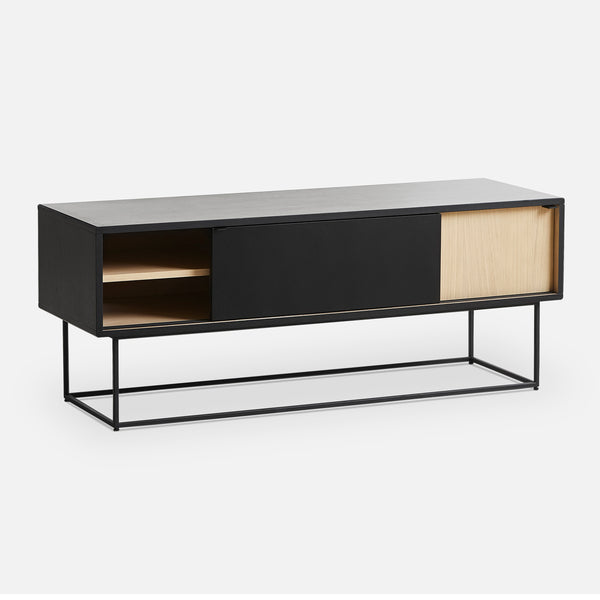 Chest of drawers / TV scale Virka, black / oak