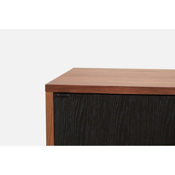 Chest of drawers / TV scale Virka, walnut / black