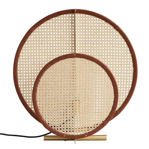 Floor / table lamp AD, with rattan wicker