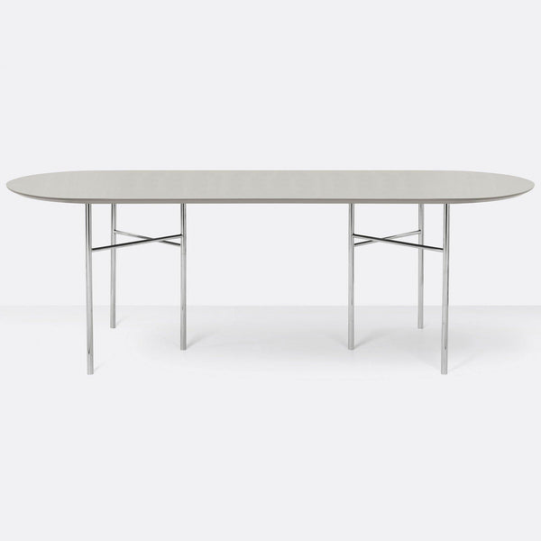 Dining table Mingle with metal legs, oval 220x90cm, different finishes - Nordic Design Home