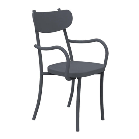 Garden chair Miami, with armrests, different colors, double set