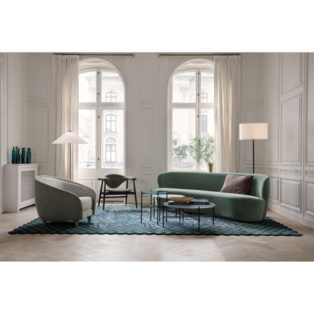 Sofa Stay 240cm, curved, different fabrics - Nordic Design Home