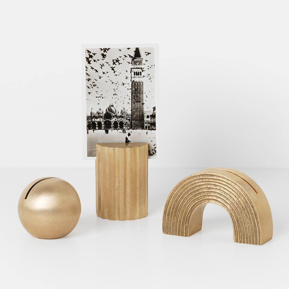 Card holder Arch, brass, different finishes - Nordic Design Home
