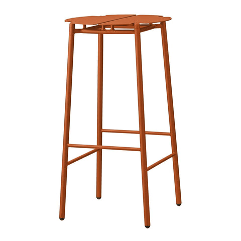 Bar stool Novo, rust red