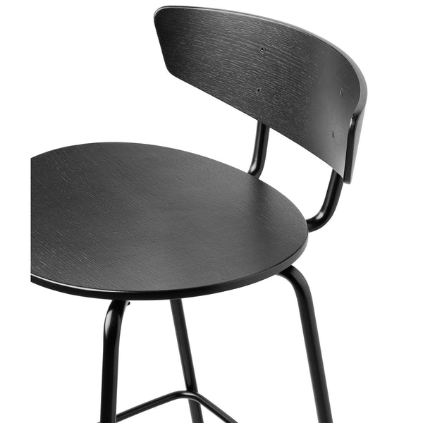 Bar chair Herman, high, black island plywood