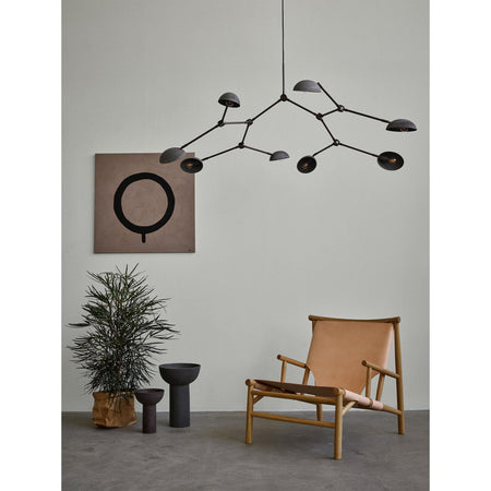 Chandelier Drop, 155cm, oxidized aluminum