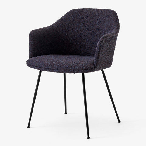 Dining chair Rely HW36, with seat cushion, different fabrics & leg finishes - Nordic Design Home