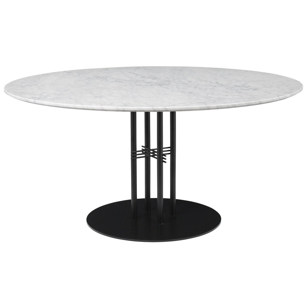 Dining table TS Column, different table leg and surface finishes, Ø150cm