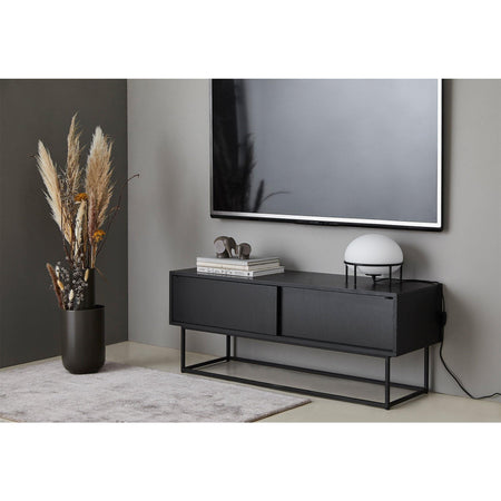 Chest of drawers / TV scale Virka, black - Nordic Design Home