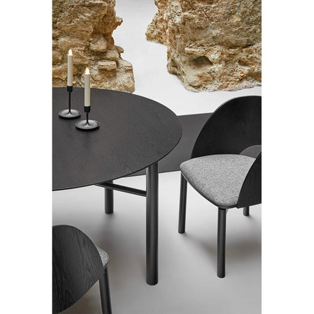 Dining table Junco Ø120cm, black