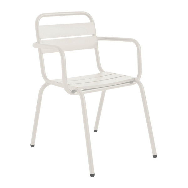 Garden chair Barceloneta with armrests, stackable, different colors, 2pcs - Nordic Design Home