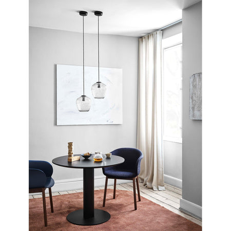 Dining table In Between SK11 Ø90cm, different metal and wood finishes - Nordic Design Home