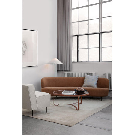 Sofa Stay 240cm, curved, different wood finishes and fabrics - Nordic Design Home