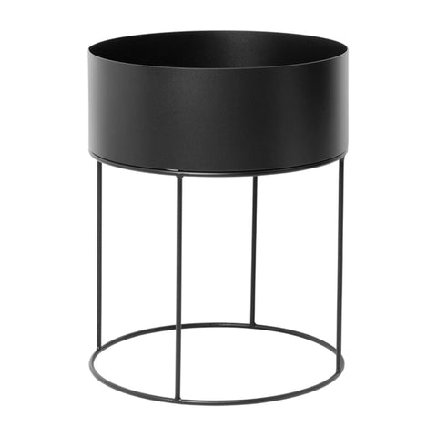 Flower stand / side table Plant Box, Ø40x50cm, black