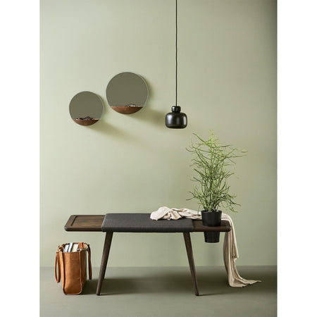Ceiling lamp Stone small, black