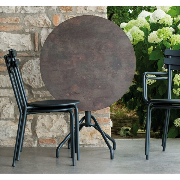 Garden chair with Grace armrests, stackable, different colors, double set - Nordic Design Home