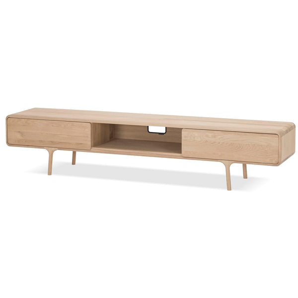 Fawn TV scale, with two drawers, 220cm