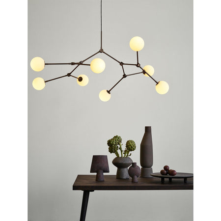 Chandelier Drop Bulp, 155cm, oxidized brass