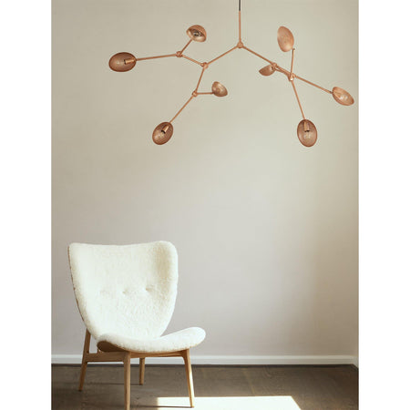 Chandelier Drop, 155cm, perforated pink-metal