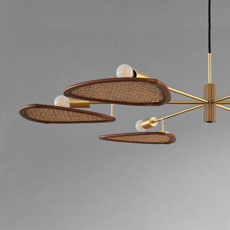 Papillion chandelier, Ø98.5cm, with rattan wicker