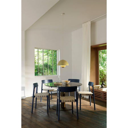 Dining table In Between SK19 Ø120, black marble, different leg finishes - Nordic Design Home