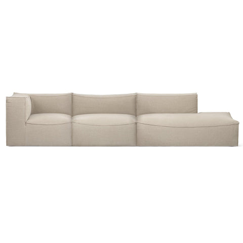 Sofa Catena, left or right, 365 / 411cm, different sizes and fabrics