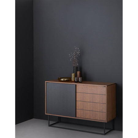 Chests of drawers Virka, walnut / black