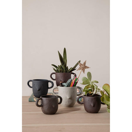 Flowerpot Mus, small, different colors