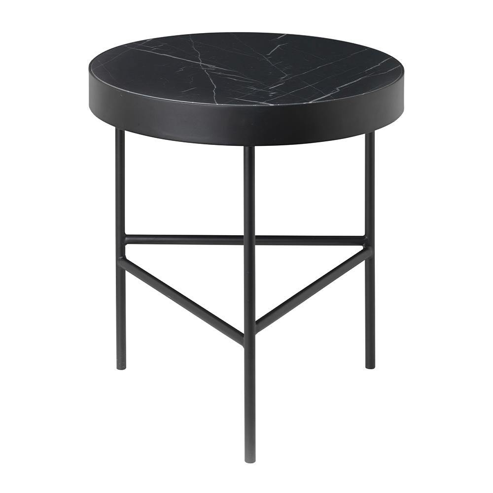 Side table Marble Ø40cm, different colors and marble surfaces - Nordic Design Home