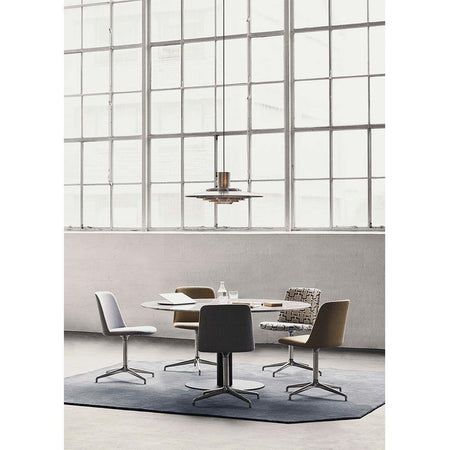 Dining table In Between SK20 Ø150, white marble, different leg finishes