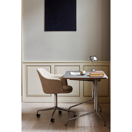 Office chair Rely HW51, with seat cushion, different fabrics & leg finishes - Nordic Design Home