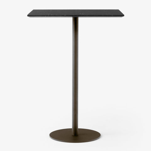 Bar table In Between SK21 60x70cm, black marble, different metal leg finishes,