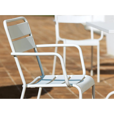 Garden chair Twist with armrests, different colors, double set