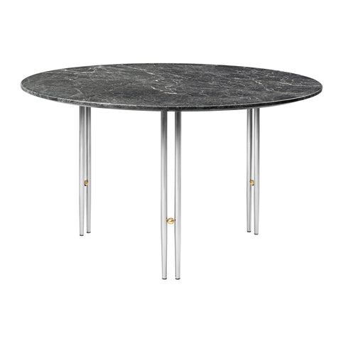 Coffee table IOI, various marble surfaces and leg finishes, Ø70cm