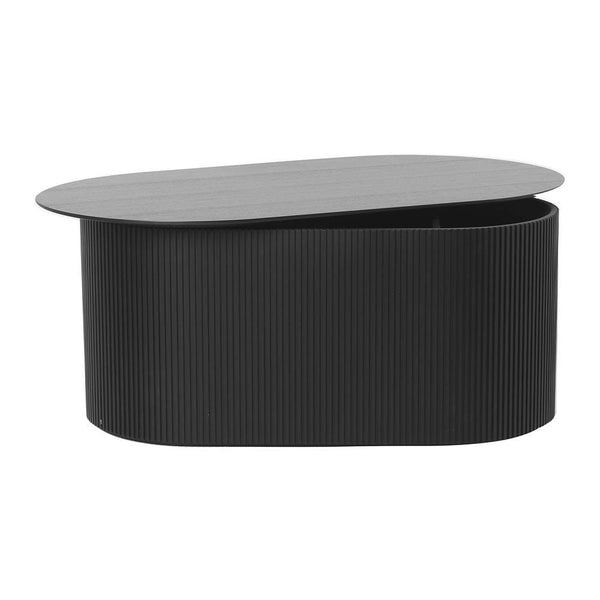 Side table / coffee table with Podia storage, black - Nordic Design Home