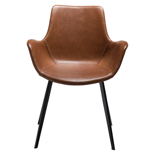 Dining chair Hype with armrests, leather cover, different colors