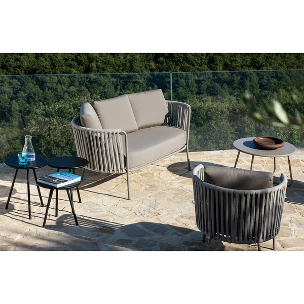 Outdoor tables Desiree, set of three, different colors