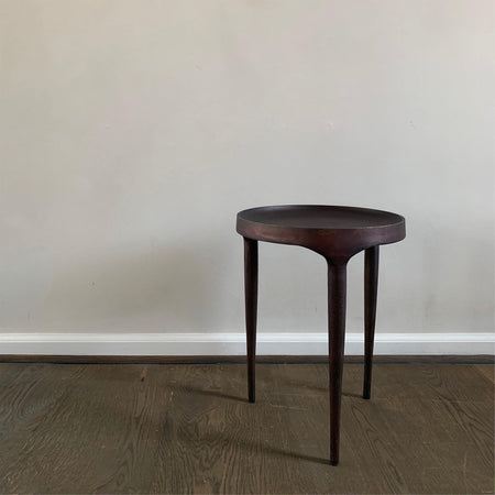 Side table Phantom, high 50cm, burnt antique