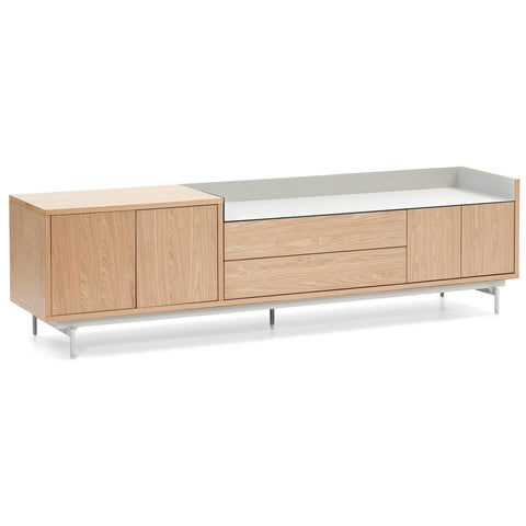 TV weight Valley 180cm, natural oak / light gray