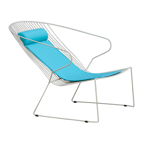 Armchair Bolonia Lounge, with cushion, stackable, different colors - Nordic Design Home